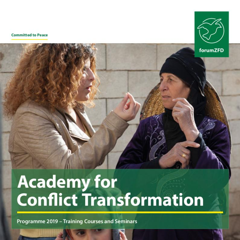 Annual program 2019 of the Academy for Conflict Transformation