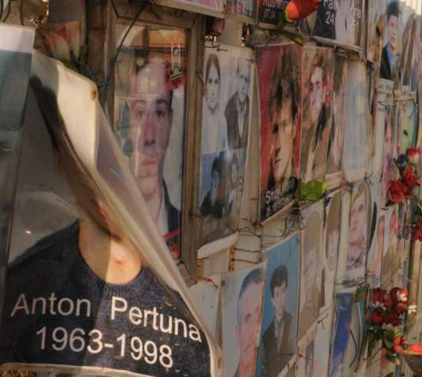 Wall of remembrance in the Western Balkans