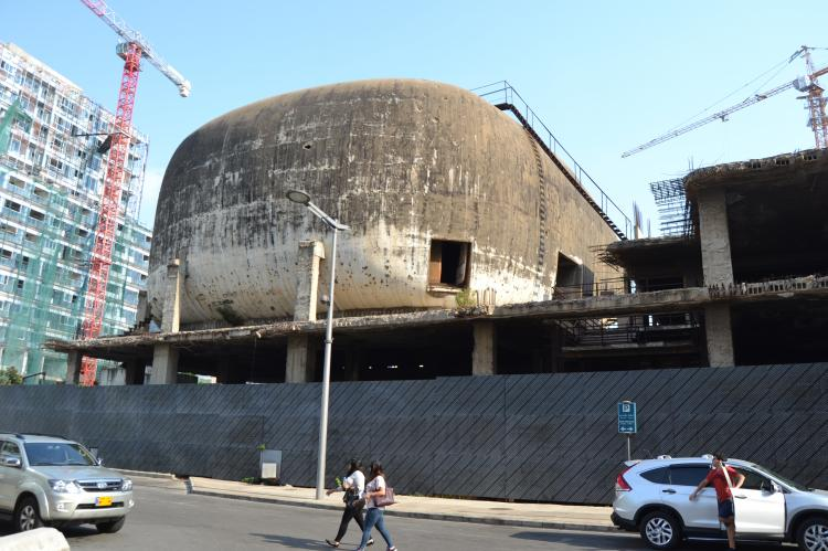 Destroyed Cinema in Beirut shaped like an egg