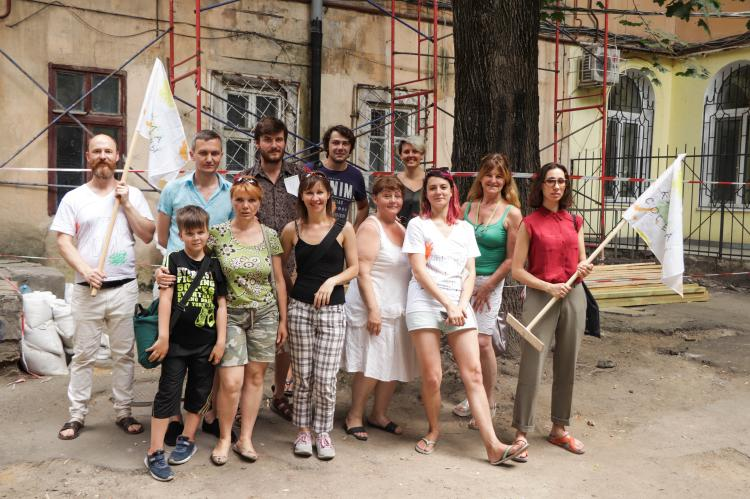 Participants of the School of Culture of Neighbourhood in Odesa, 2019