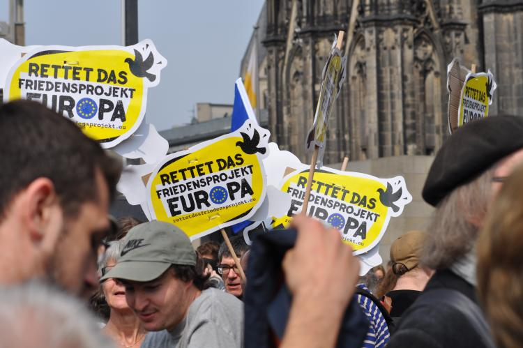 Demonstration Ein Europa für alle