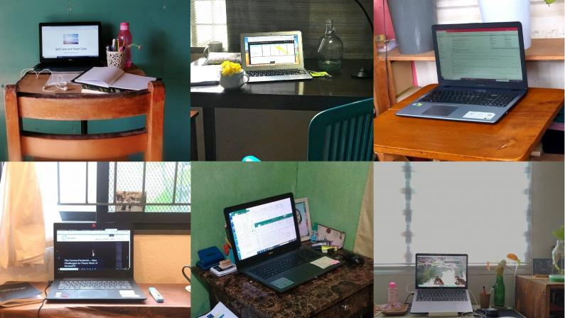 Collage of Home Office Arrangements