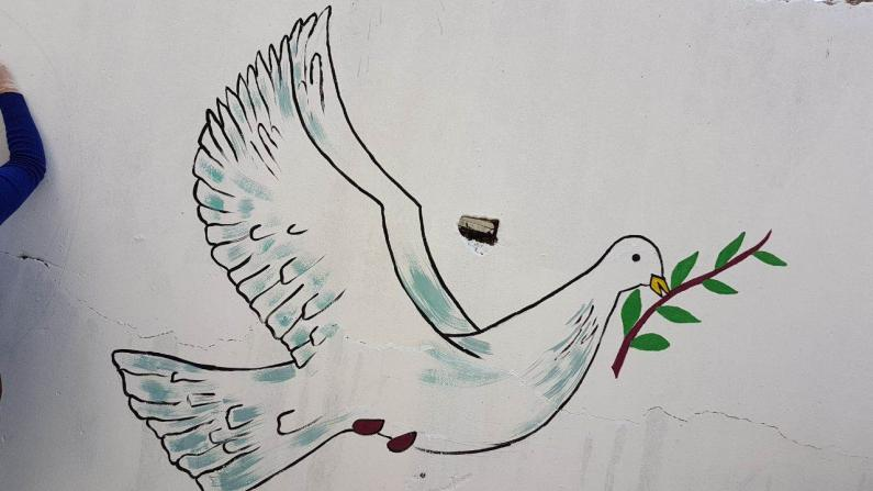 Peace Dove on the wall