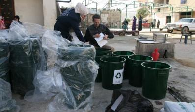 Community Activists sorting garbage