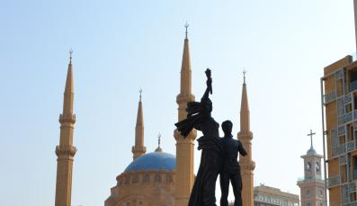 Statue on Martyres Square in Downtown Beirut