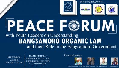 Logo of the Peace Forum on Understanding the Bangsamoro Organic Law with Speakers