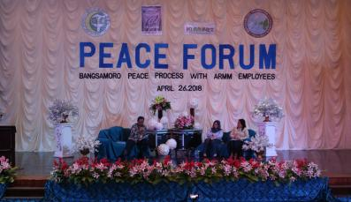 Panelists at peace forum in Cotabato City