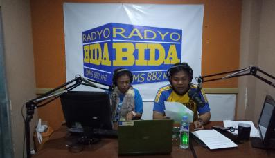 Two hosts of the Peace Radio Program in Cotabato City